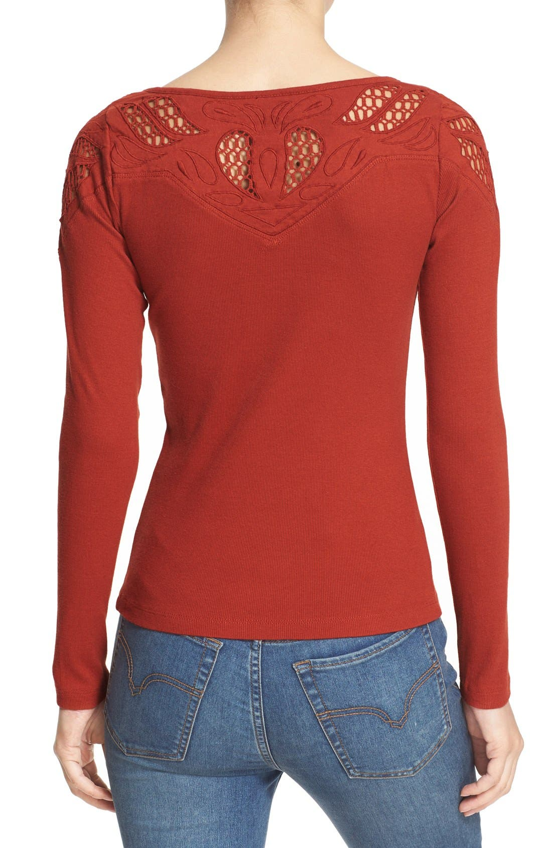 Alternate Image 2  - Free People With Love Tie Neck Thermal Tee