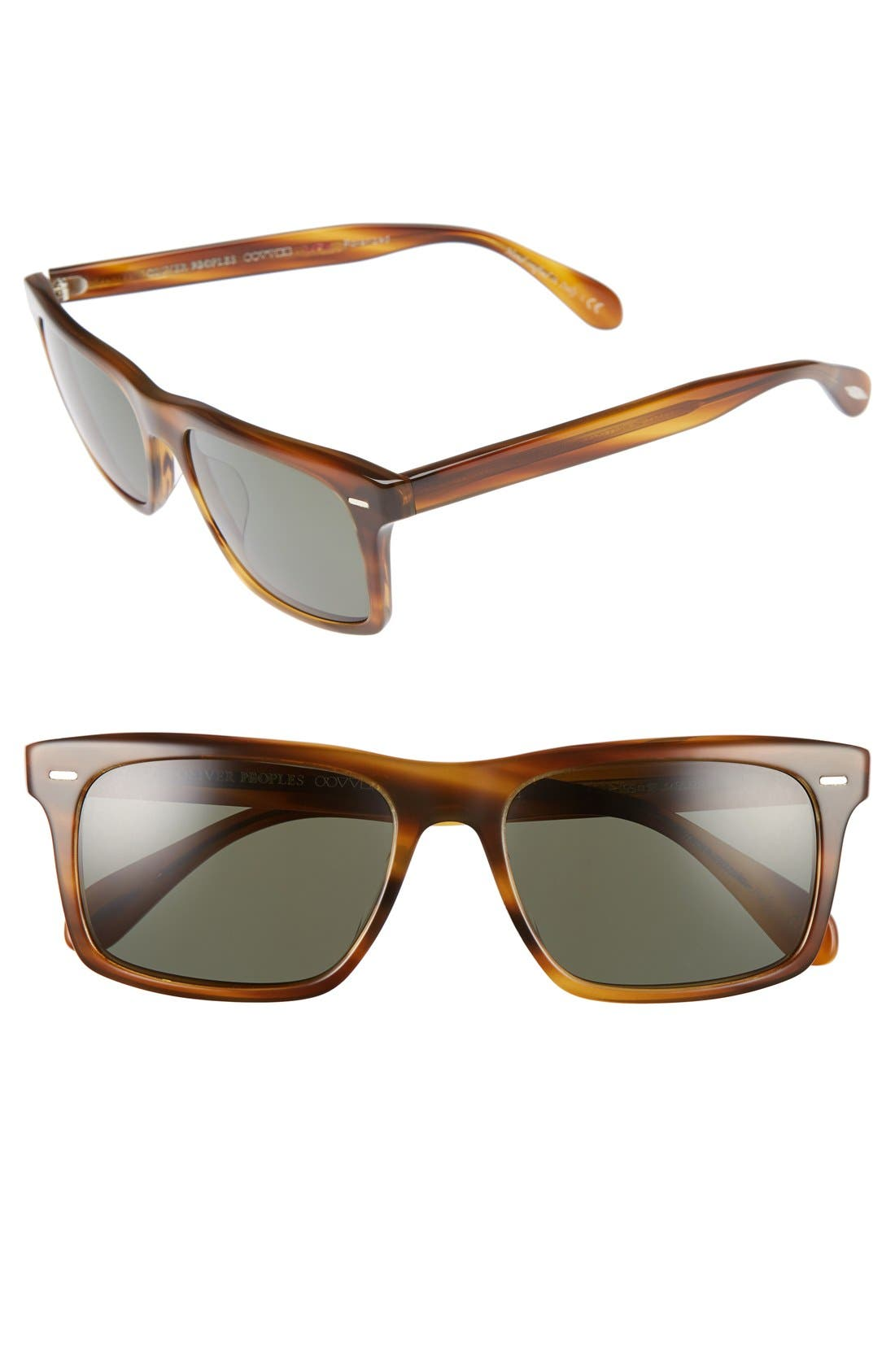 Brodsky 55mm Polarized Sunglasses,                             Main thumbnail 1, color,                             Brown