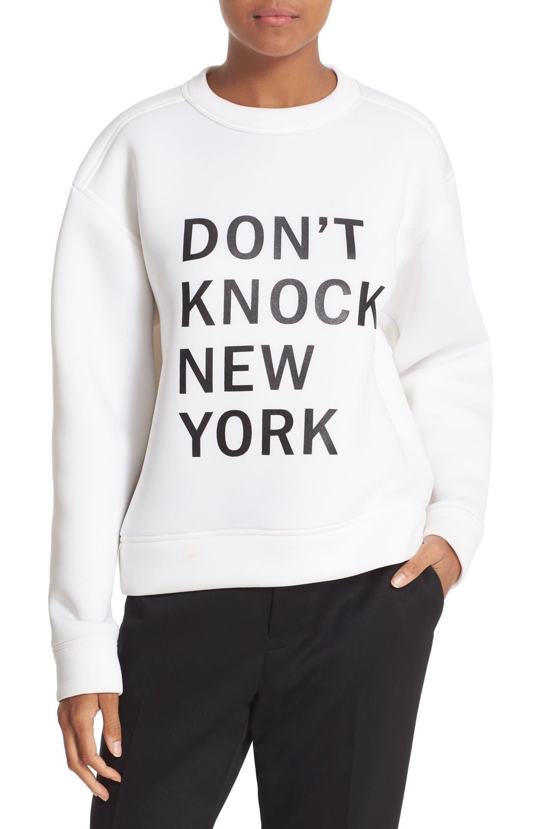 Alternate Image 1 Selected - DKNY 'Runway' Graphic Print Sweatshirt