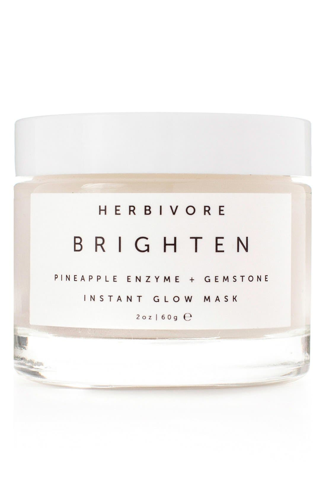 Herbivore Botanicals Brighten Pineapple Enzyme + Gemstone Instant Glow Mask