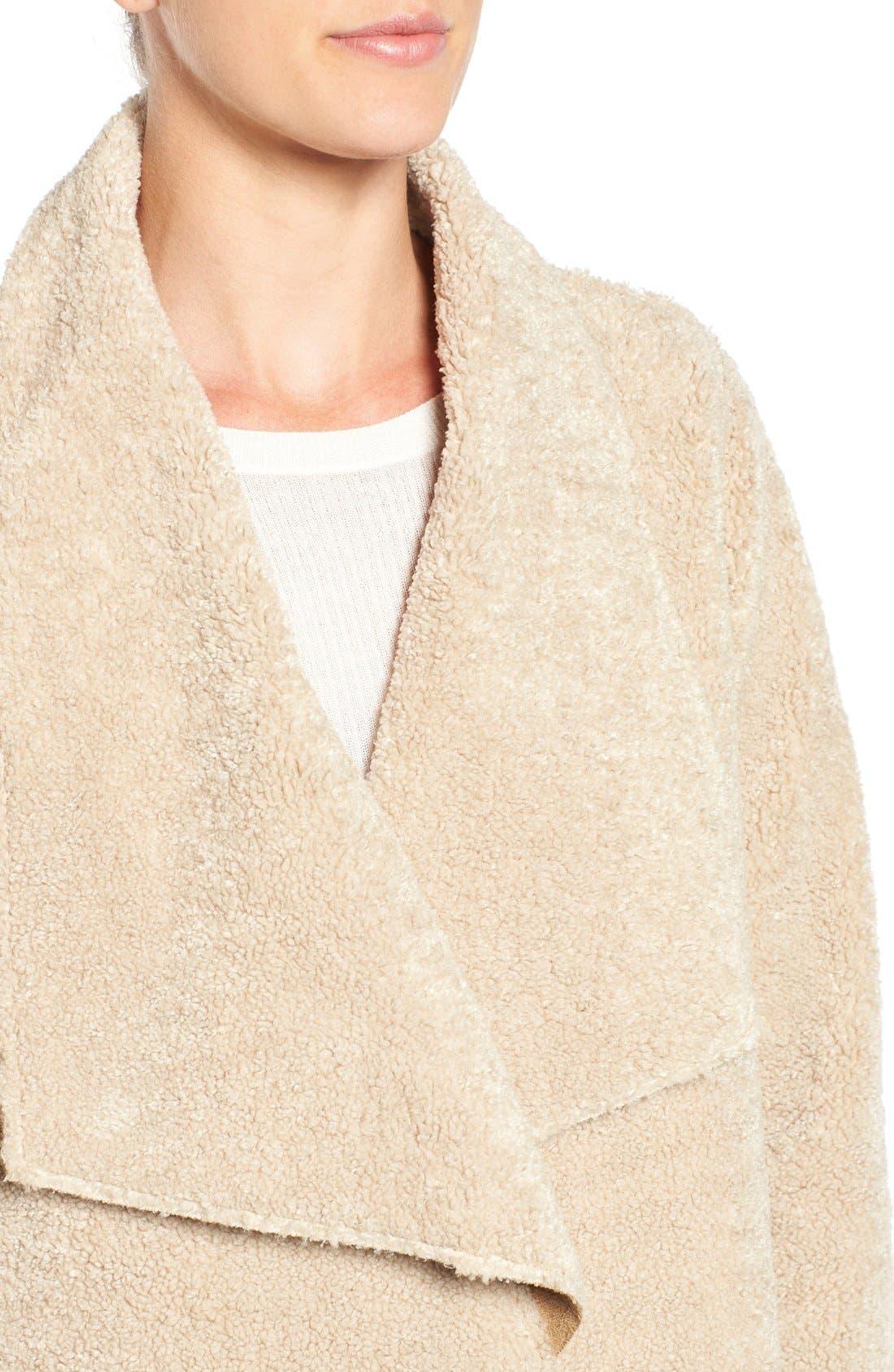 Alternate Image 4  - Velvet by Graham & Spencer 'Lux' Reversible Faux Shearling Drape Front Jacket