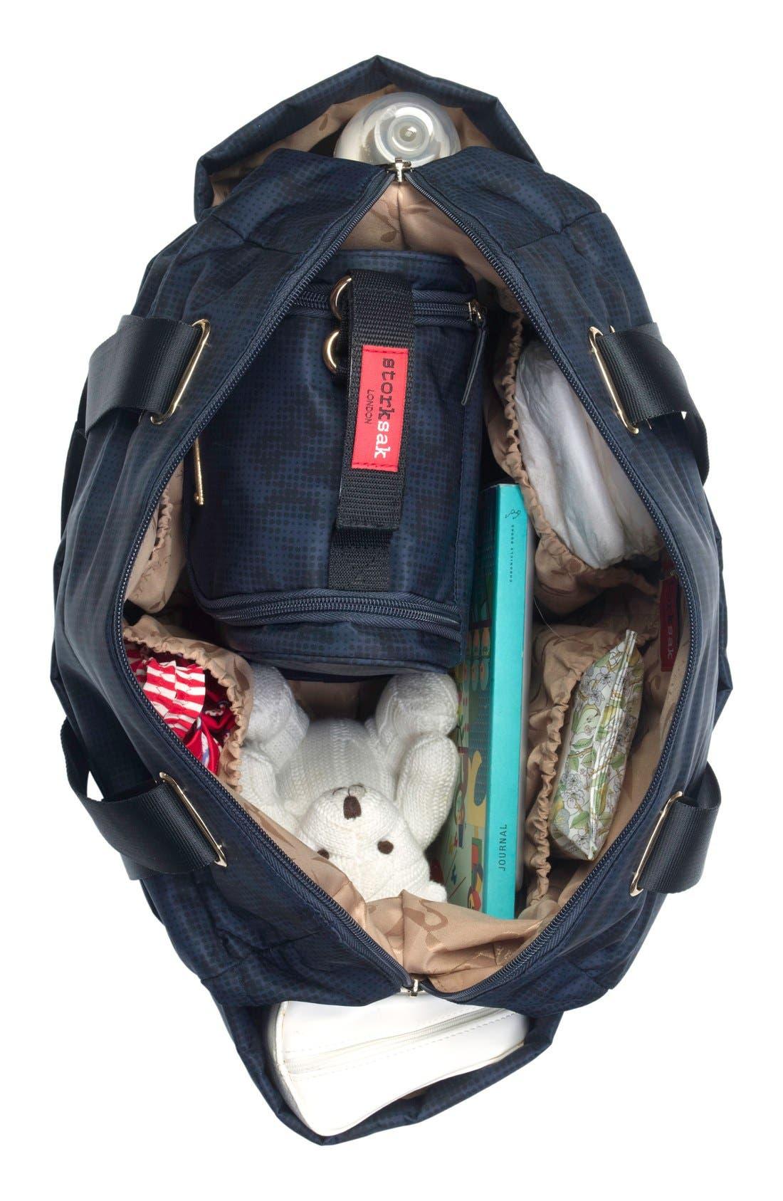 'Sandy' Diaper Bag,                             Alternate thumbnail 2, color,                             Navy
