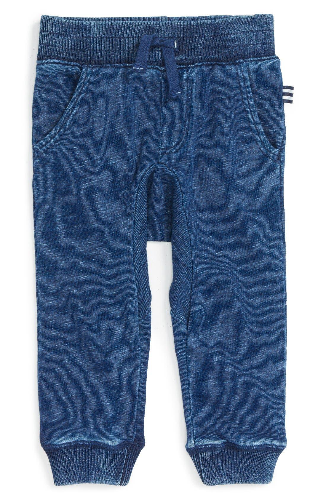 Cotton Blend Jogger Pants,                         Main,                         color, Dark Stone