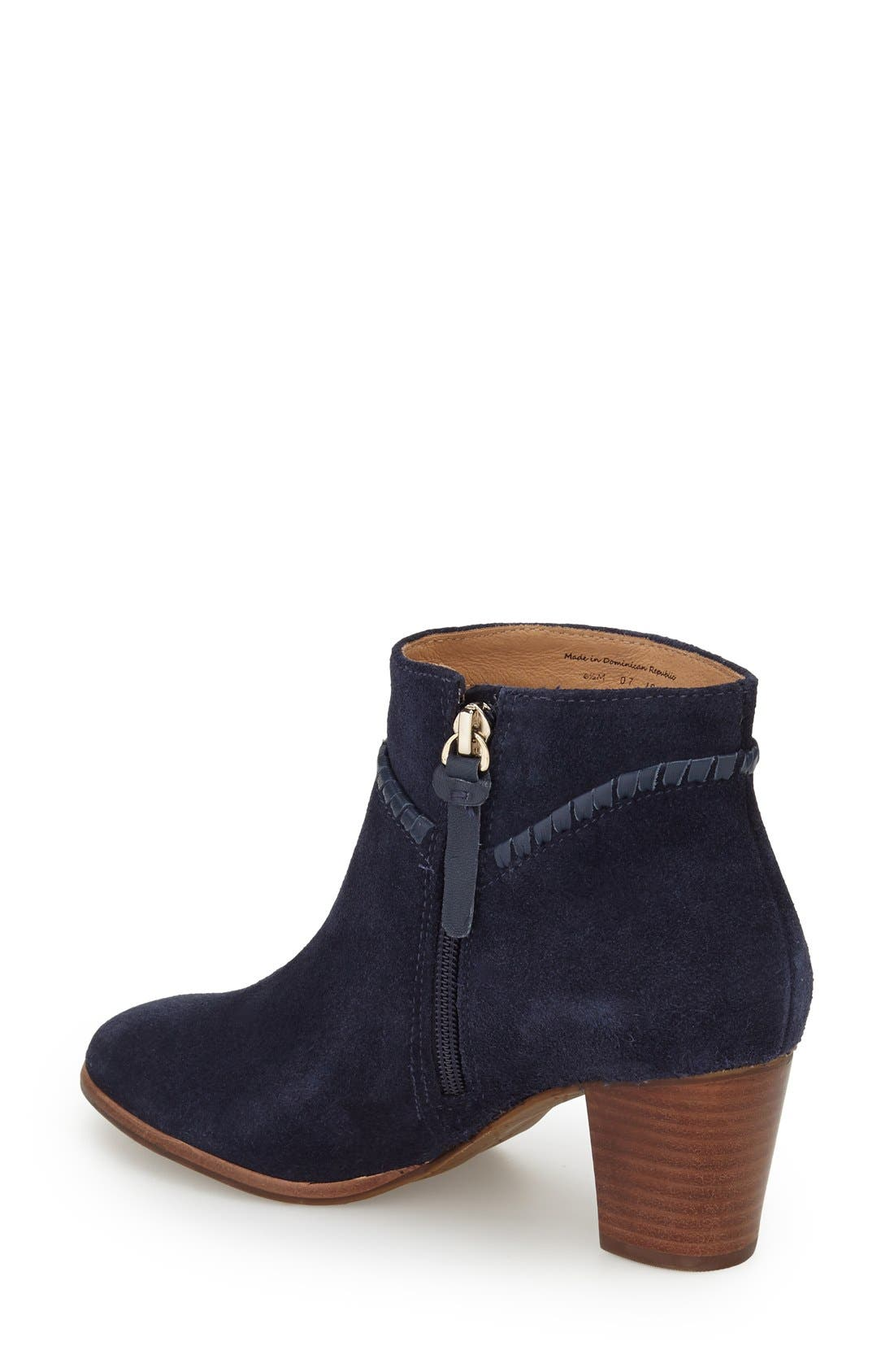 'Chandler' Bootie,                             Alternate thumbnail 2, color,                             Midnight Suede