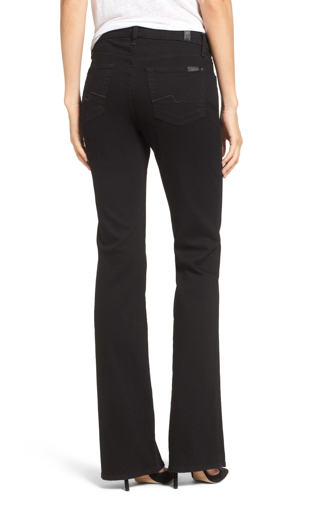 Alternate Image 2  - 7 For All Mankind® 'Kimmie' Bootcut Jeans (Washed Overdyed Black)