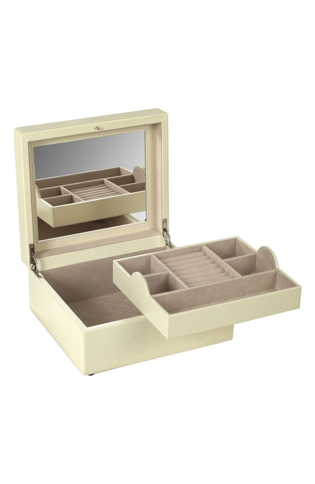 London Square Jewelry Box,                             Alternate thumbnail 2, color,                             Cream