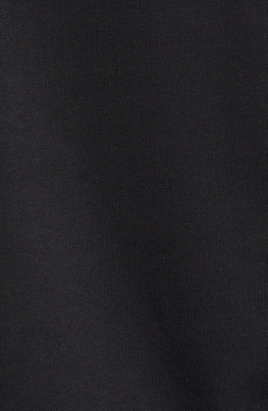 Slim Fit Trefoil Logo Crewneck Sweatshirt,                             Alternate thumbnail 5, color,                             Black
