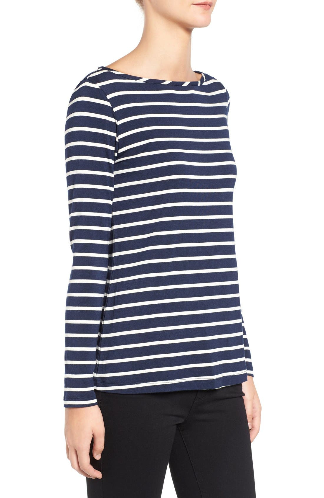 Francoise Stripe Top,                             Alternate thumbnail 3, color,                             Basque Stripe