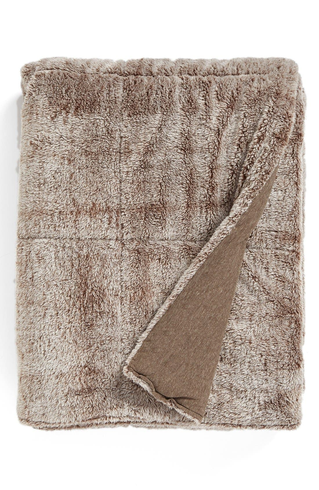 'Frosted' Throw,                         Main,                         color, Brown/ Brown
