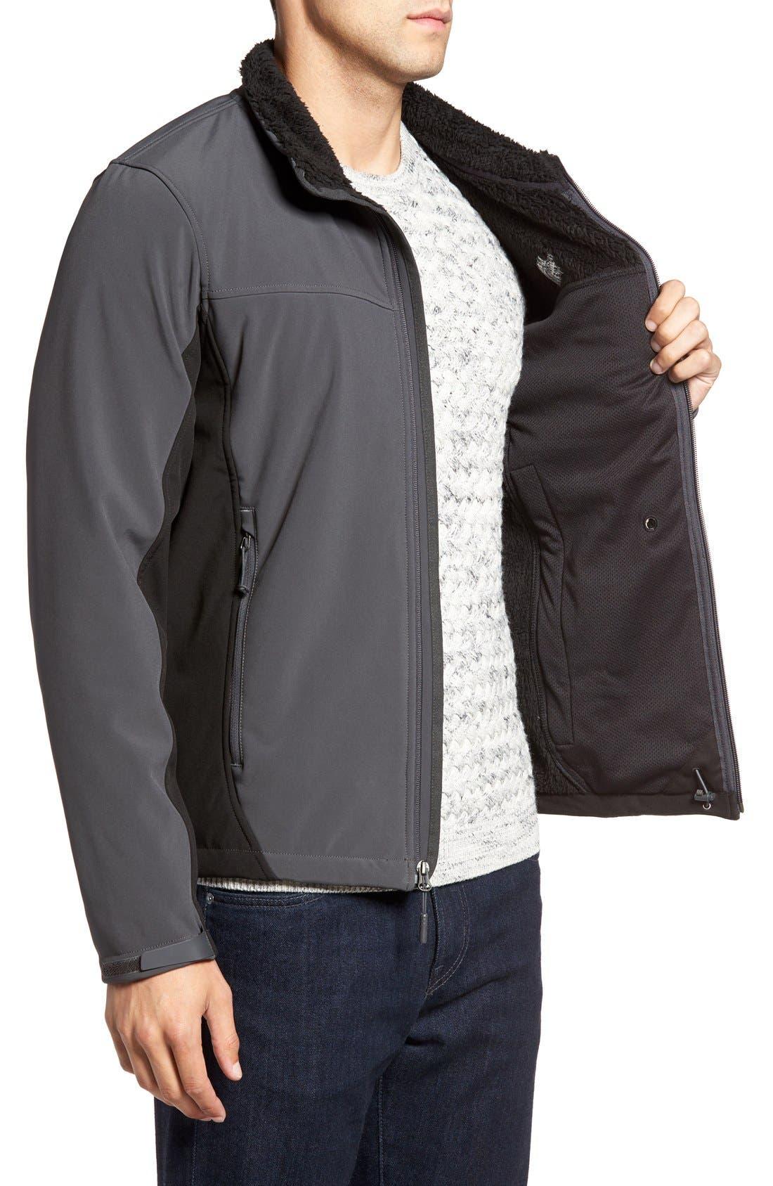 'Apex Chromium' Waterproof Thermal Jacket,                             Alternate thumbnail 3, color,                             Asphalt Grey/ Tnf Black
