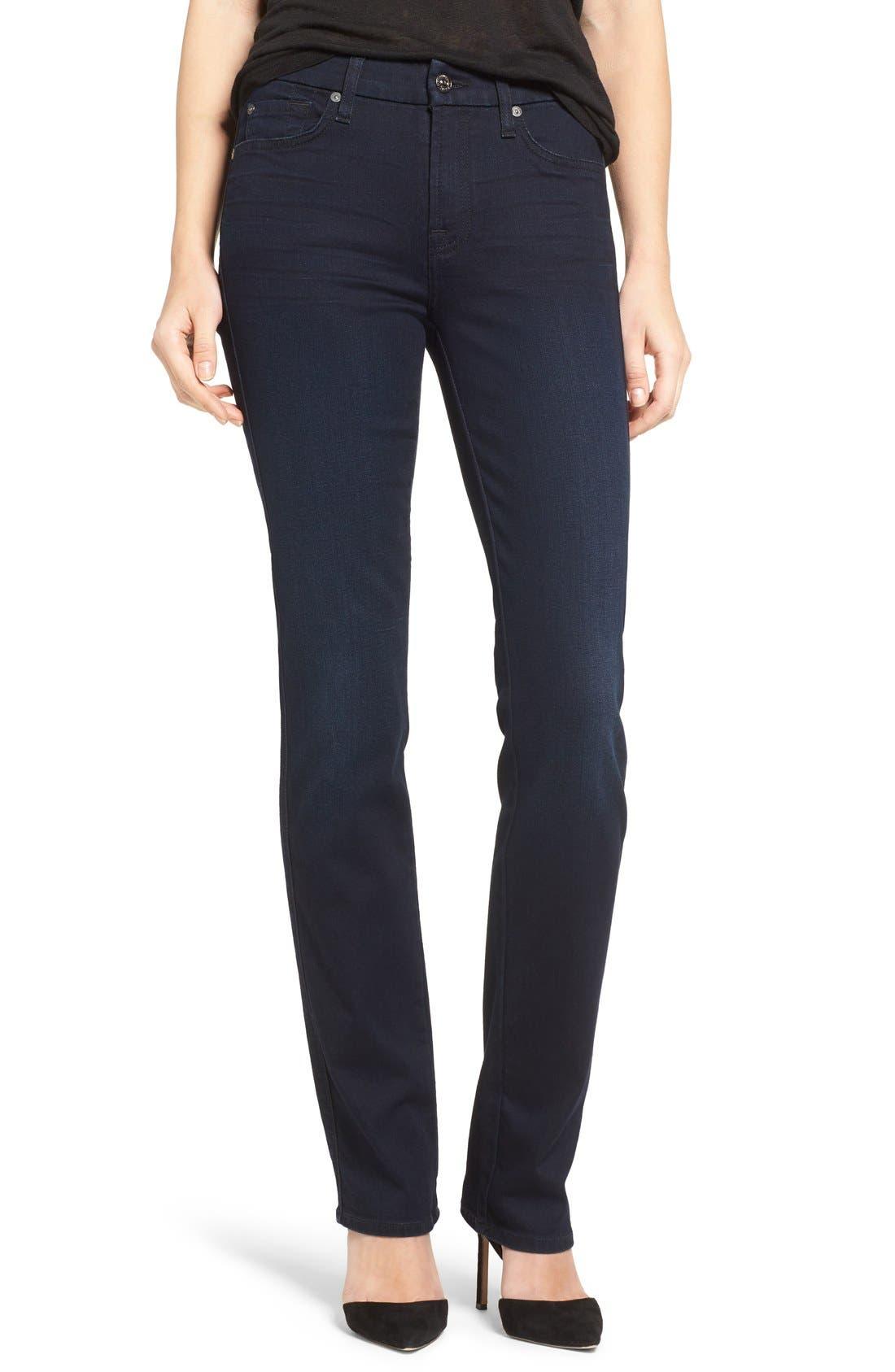 'b(air) - Kimmie' Straight Leg Jeans,                         Main,                         color, Blue Black River Thames