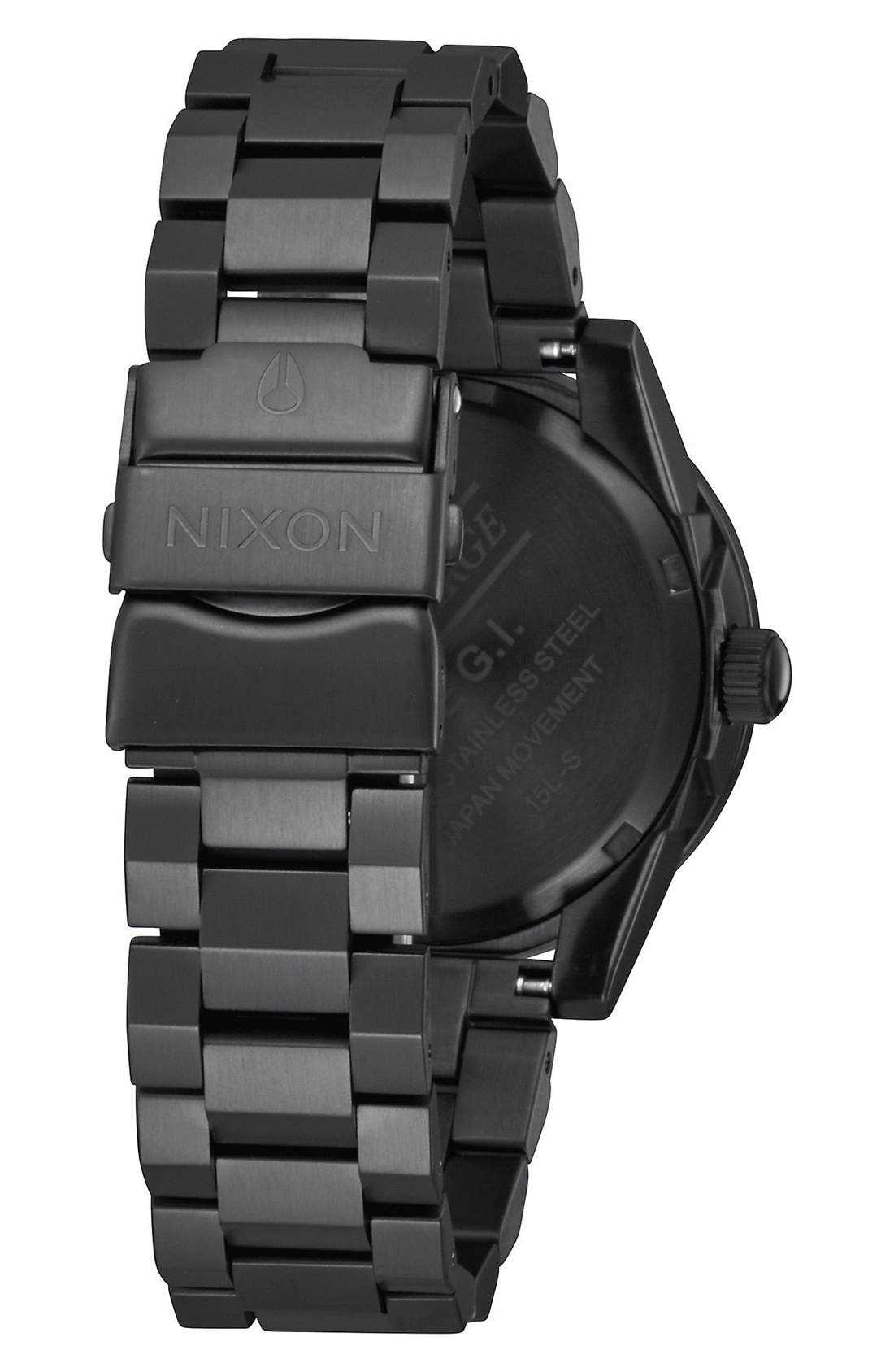 G.I. Bracelet Watch, 36mm,                             Alternate thumbnail 2, color,                             Black