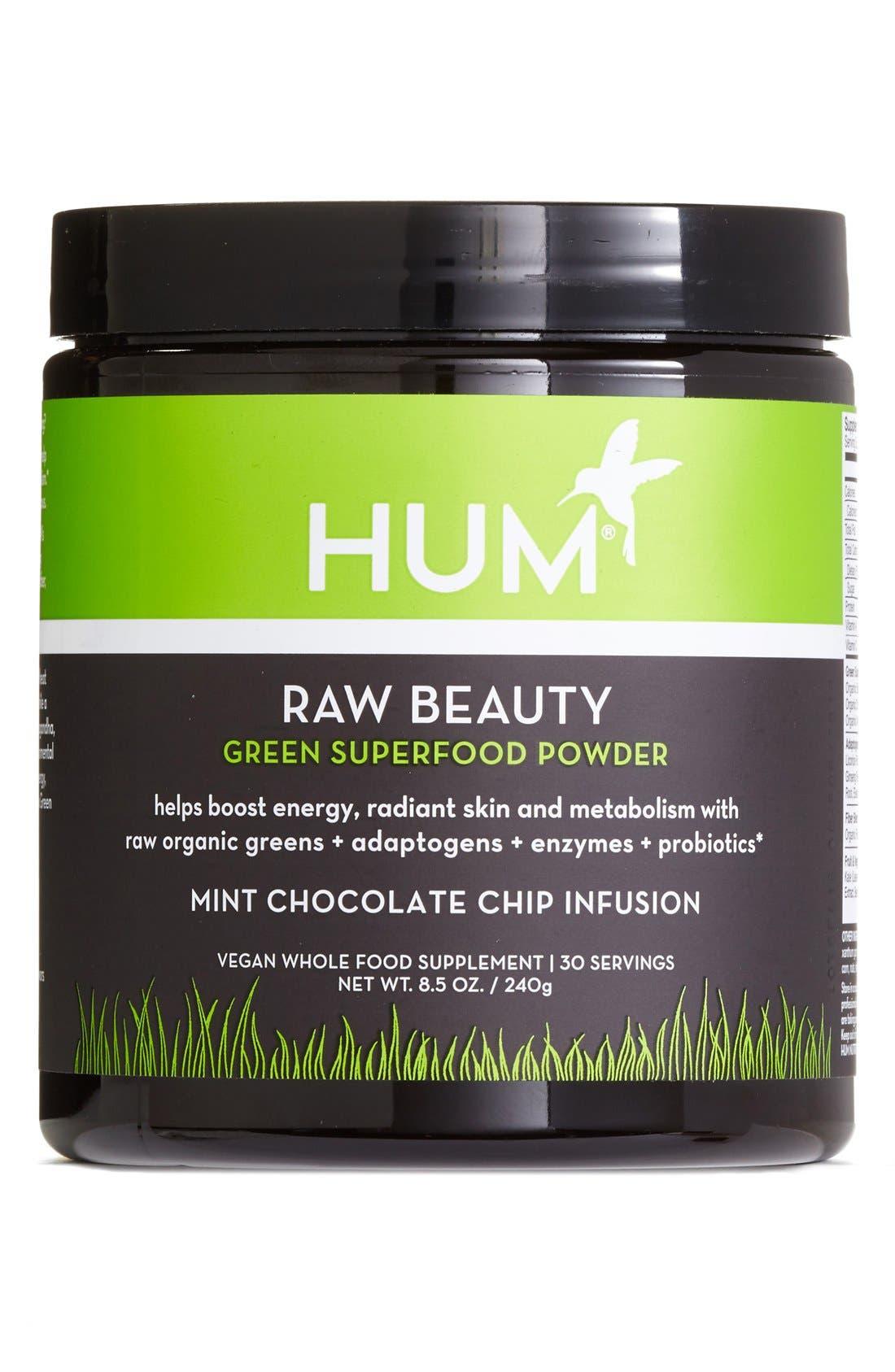 Hum Nutrition Raw Beauty Skin & Energy Green Superfood Powder