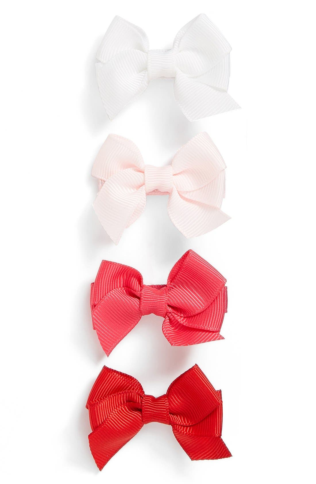 Alternate Image 1 Selected - PLH Bows & Laces Bow Clips (Set of 4) (Baby Girls)