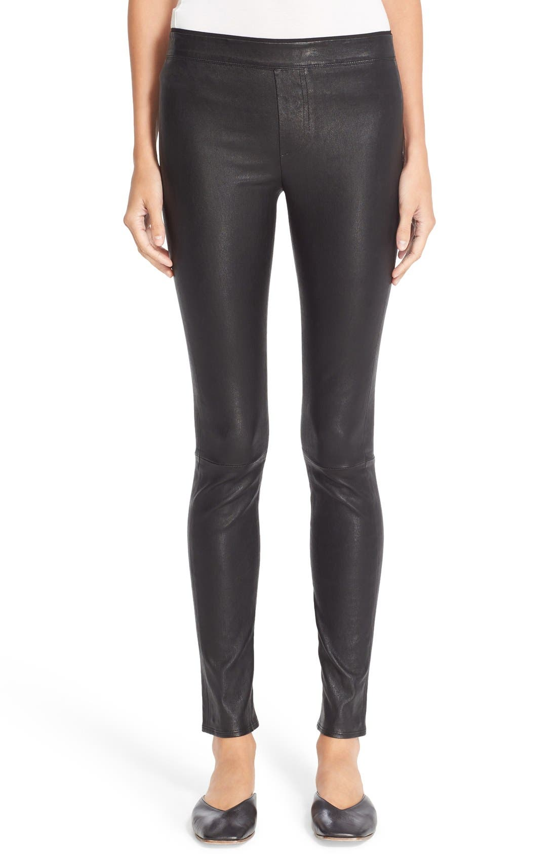 Helmut Lang Stretch Lambskin Leather Leggings