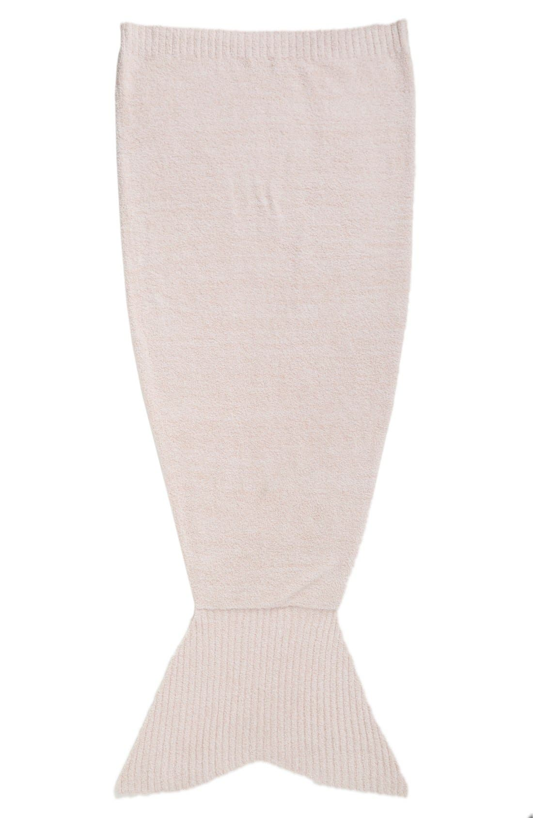Barefoot Dreams Mermaid Tail Throw,                         Main,                         color, Dusty Rose