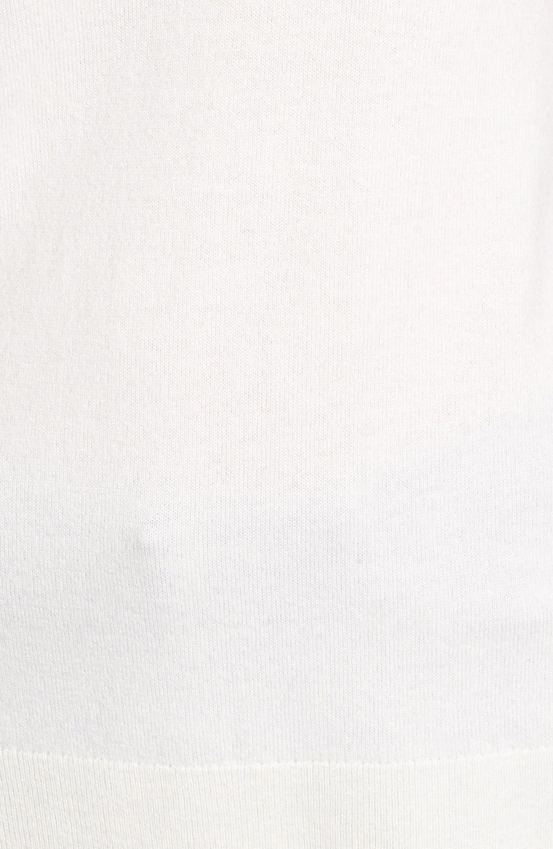 Luna V-Neck Merino & Cashmere Tunic Sweater,                             Alternate thumbnail 5, color,                             Powdered White
