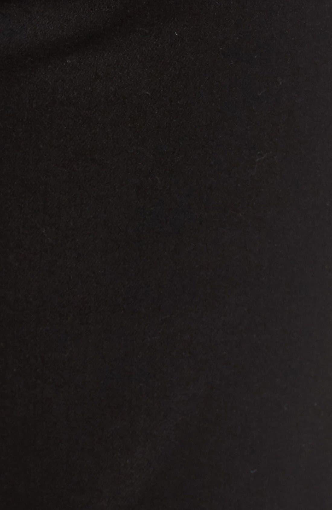 Alternate Image 5  - 7 For All Mankind® 'b(air) - Kimmie' Straight Leg Jeans (Bair Black)