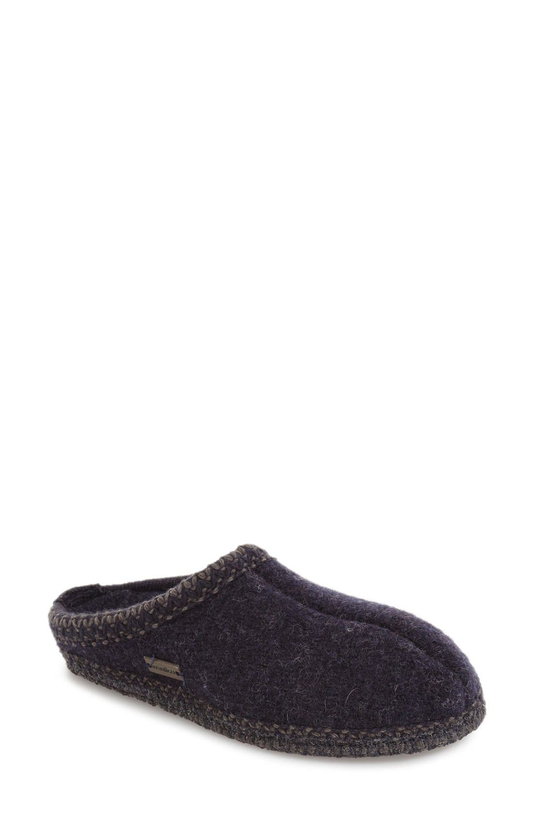 'Classic' Slipper,                         Main,                         color, Navy Wool