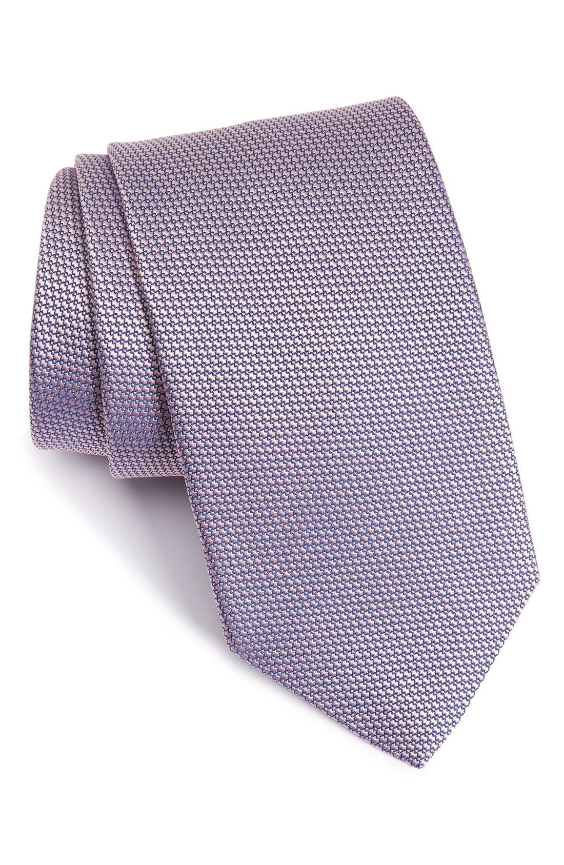 Microdot Silk Tie,                         Main,                         color, Pink