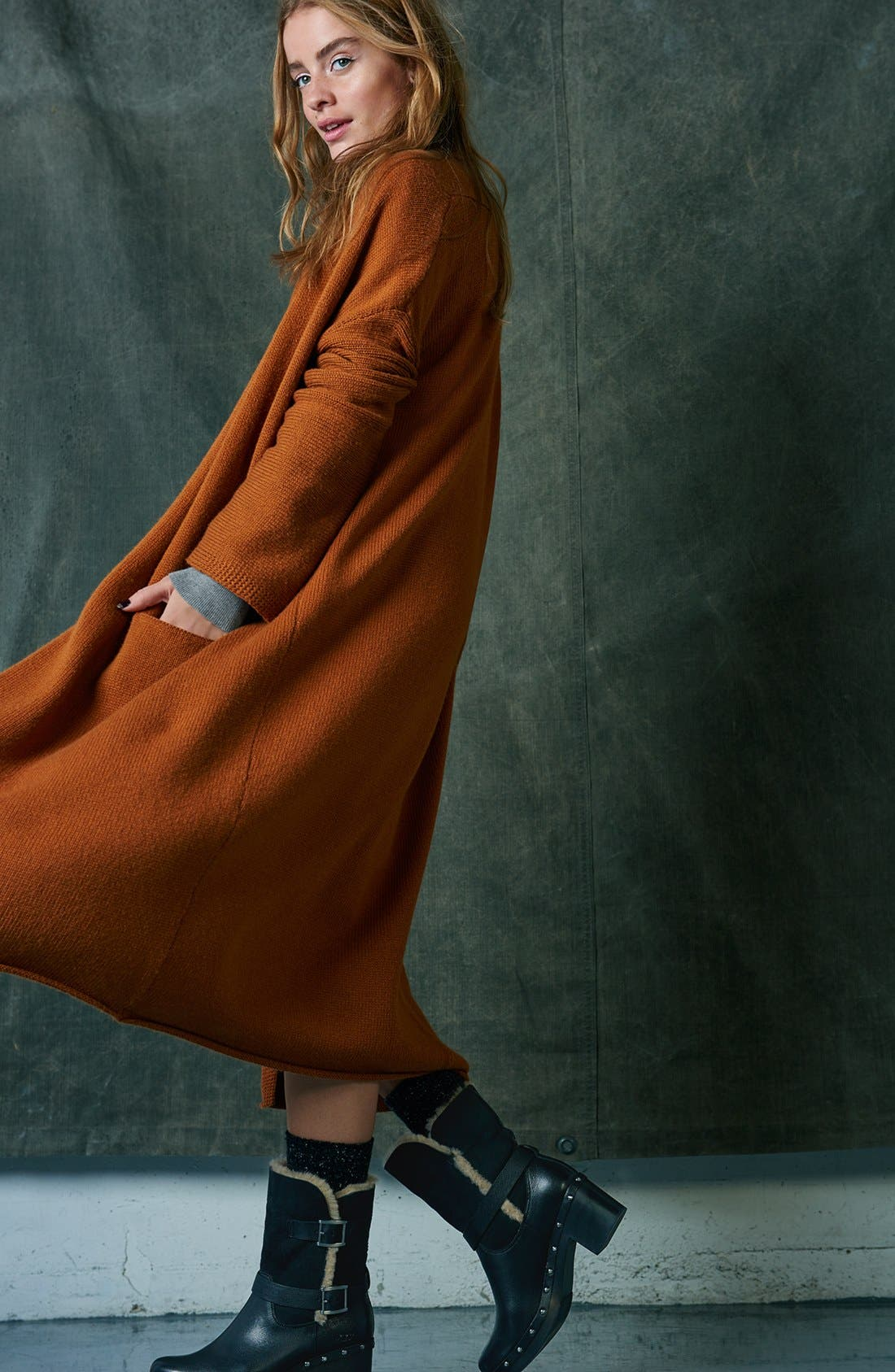 Mock Neck Knit Sweater Dress,                             Alternate thumbnail 6, color,