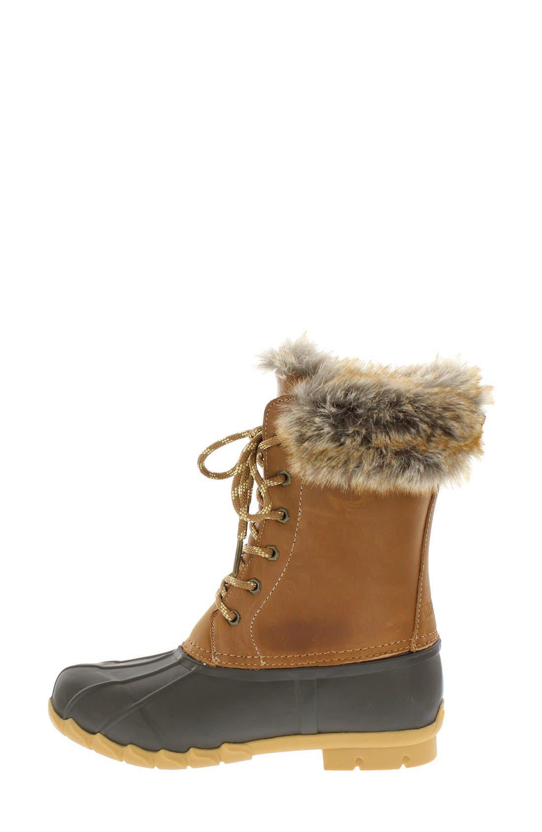 Agnus Faux Fur Lined Duck Boot,                             Alternate thumbnail 2, color,                             Tan