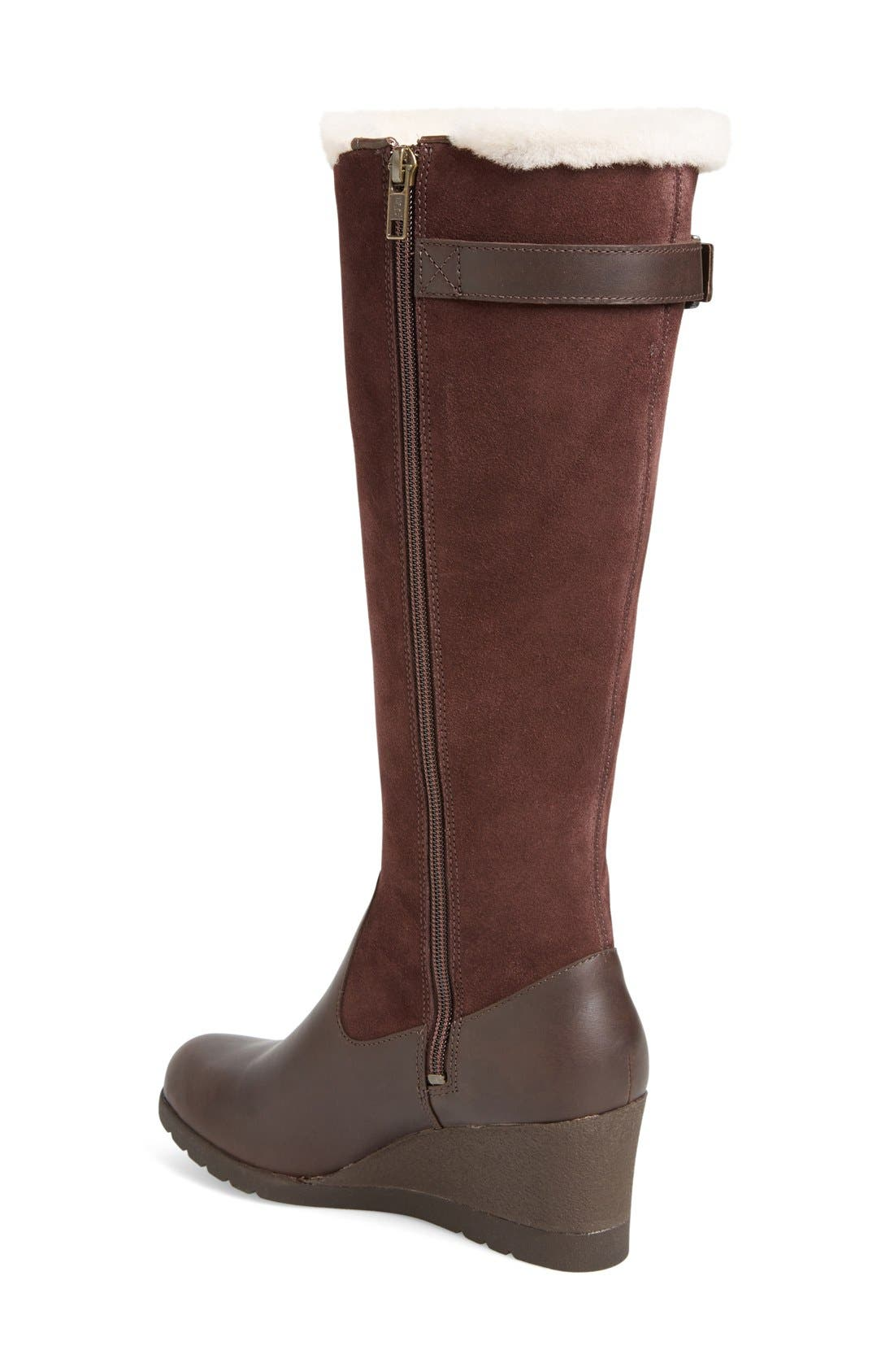 Alternate Image 2  - UGG® Mischa Waterproof Wedge Boot (Women)