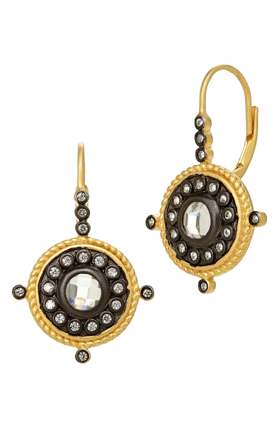 Drop Earrings,                             Main thumbnail 1, color,                             Gunmetal/ Gold