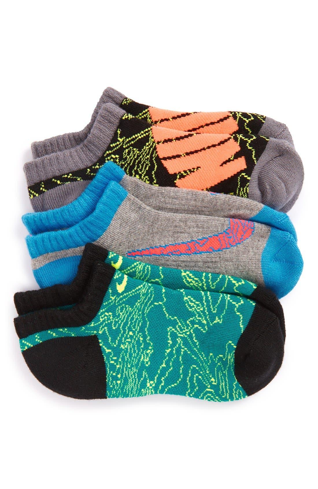 Alternate Image 1 Selected - Nike Performance 3-Pack No-Show Socks (Walker, Toddler, Little Kid & Big Kid)