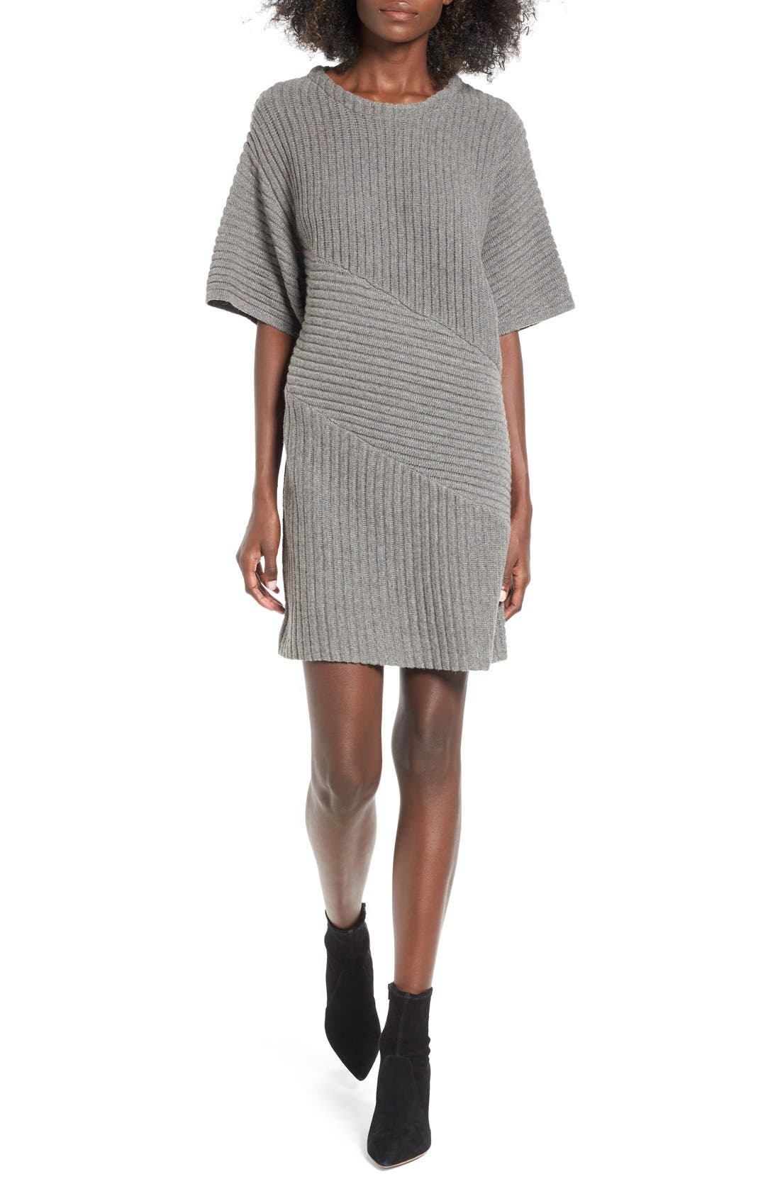 Alternate Image 1 Selected - ASTR Ribbed Sweater Dress