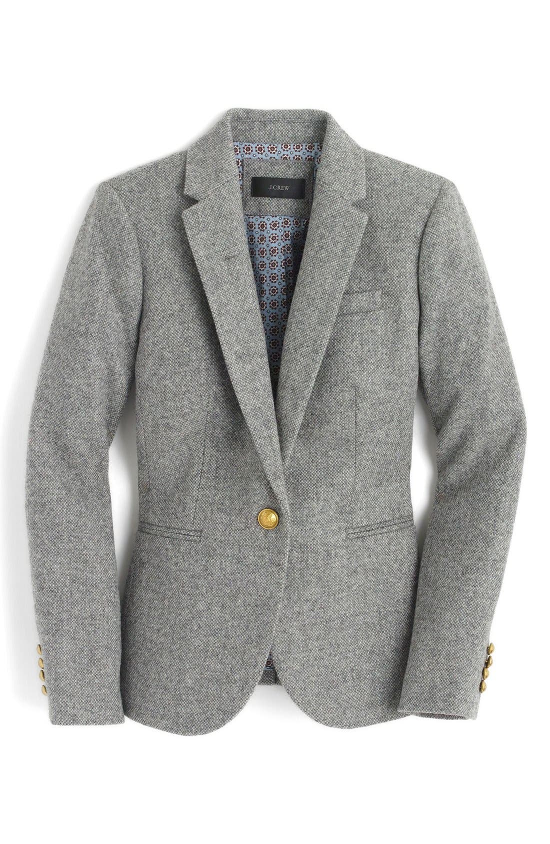 Alternate Image 4  - J.Crew Collection Campbell Donegal Wool Blazer (Regular & Petite)