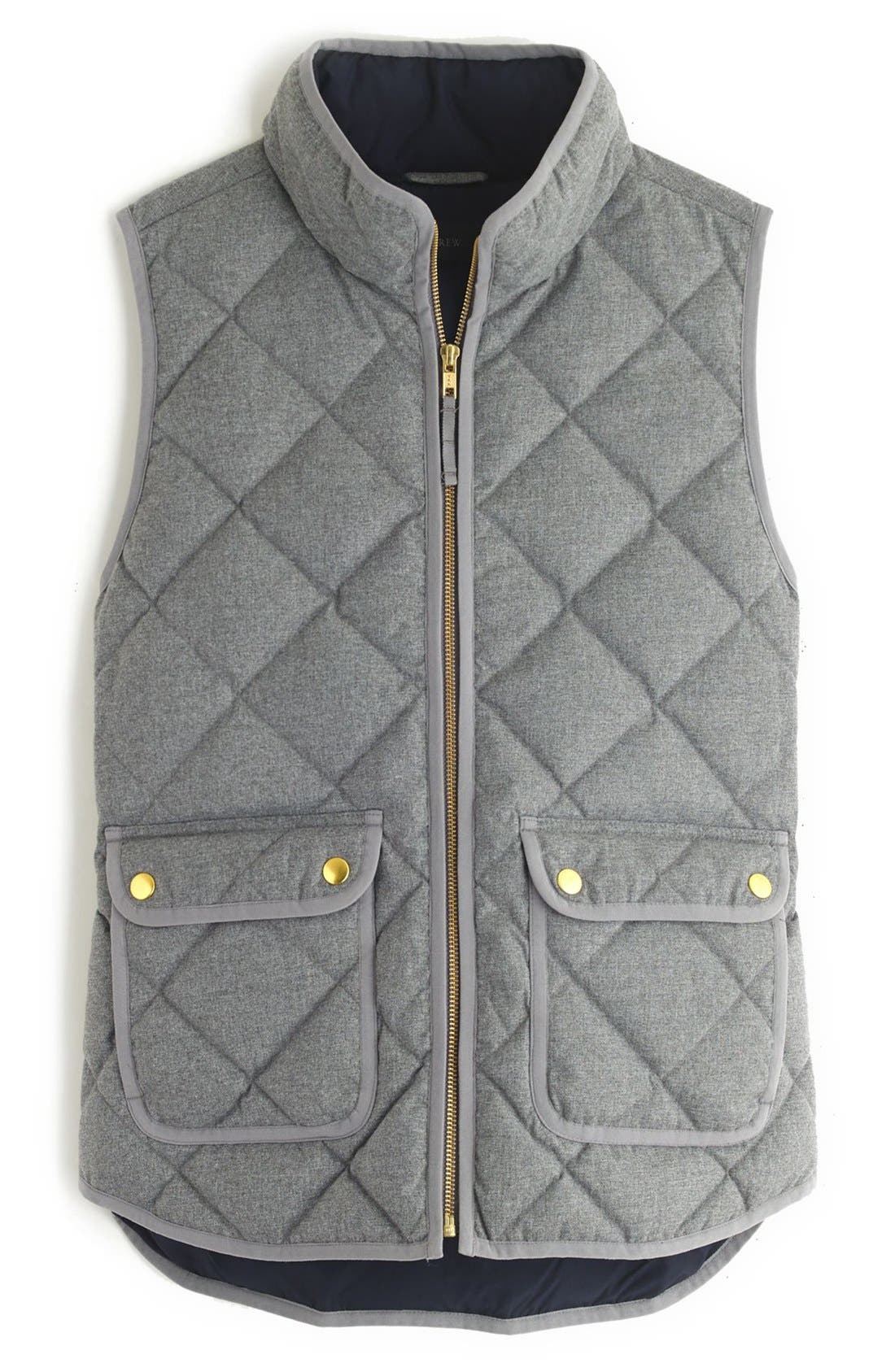 Alternate Image 3  - J.Crew Excursion Quilted Flannel Vest (Regular & Petite)