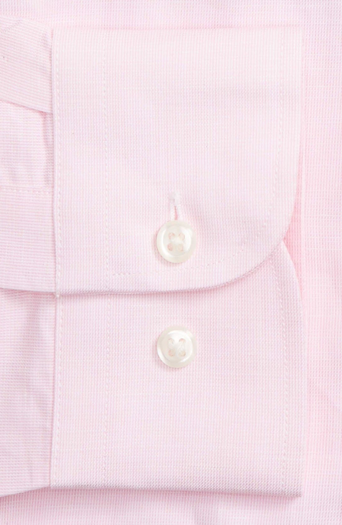 Alternate Image 4  - Nordstrom Men's Shop Trim Fit Solid Linen & Cotton Dress Shirt