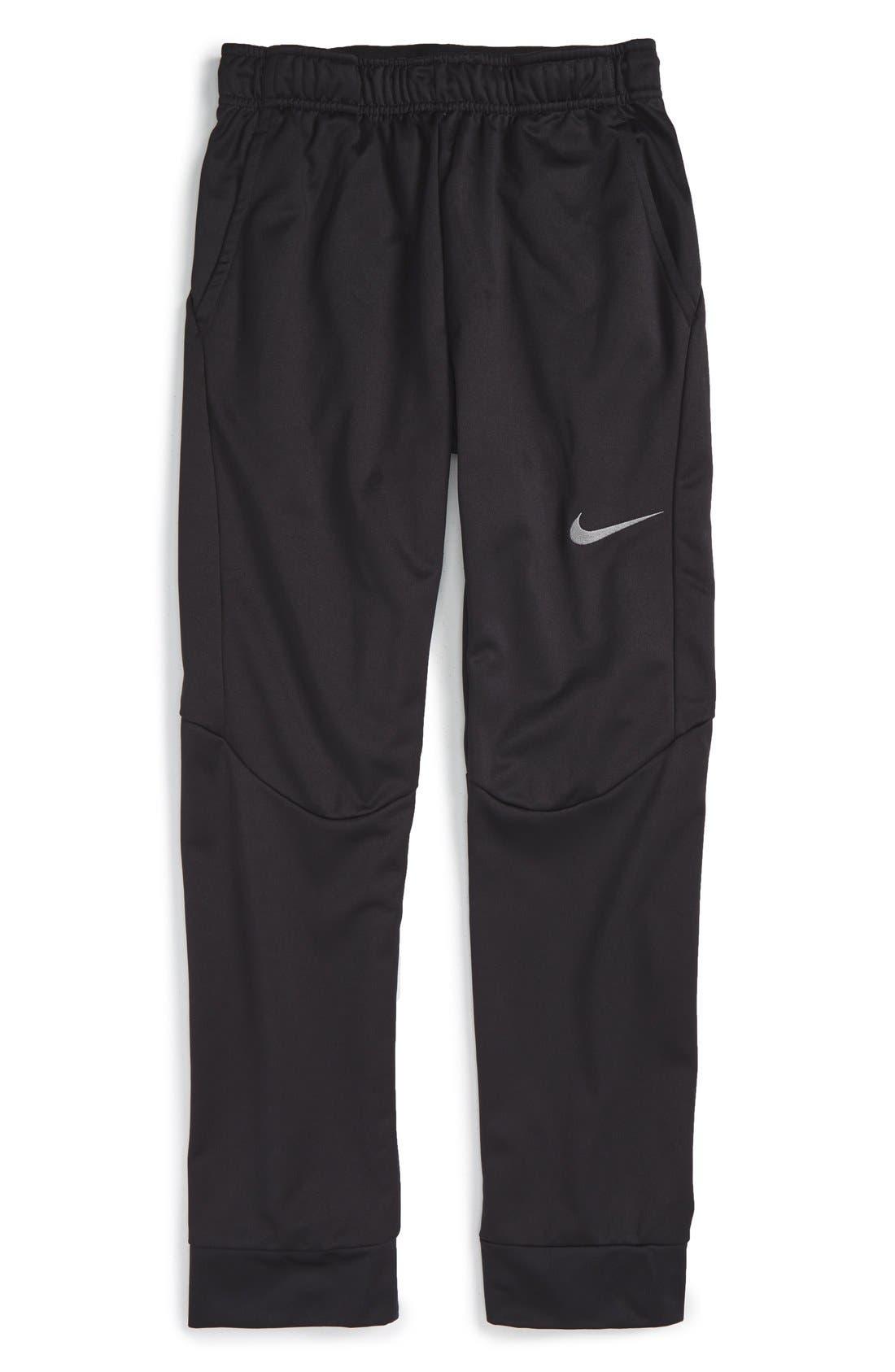 Therma-FIT Tapered Fleece Pants,                             Main thumbnail 1, color,                             Black/ Dark Steel Grey