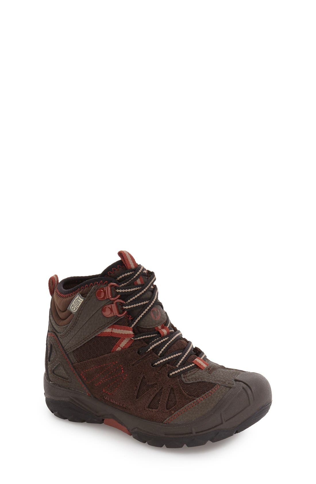Alternate Image 1 Selected - Merrell 'Capra' Mid Waterproof Hiking Shoe (Toddler, Little Kid & Big Kid)