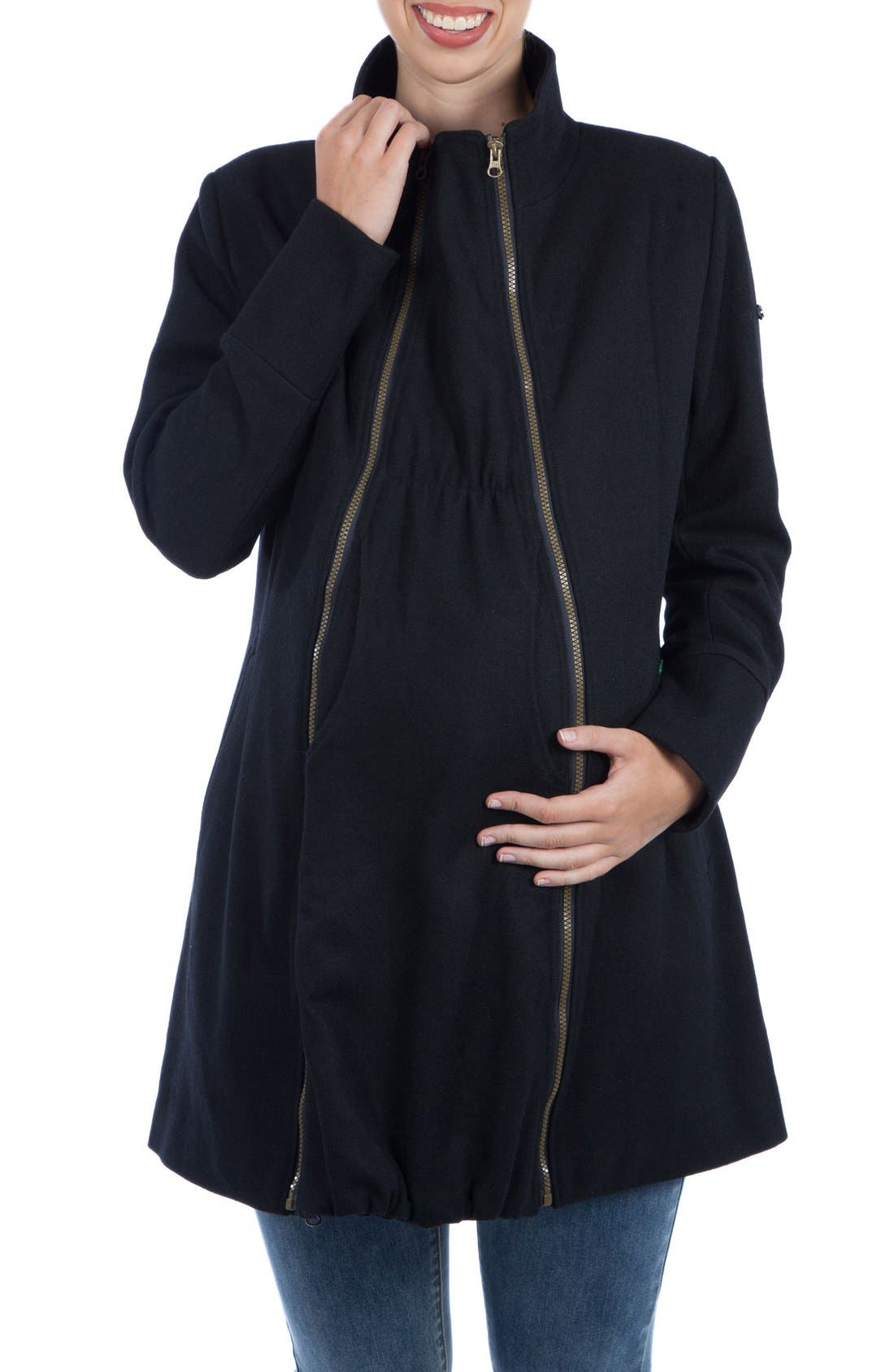 Main Image - Modern Eternity Convertible Maternity Coat