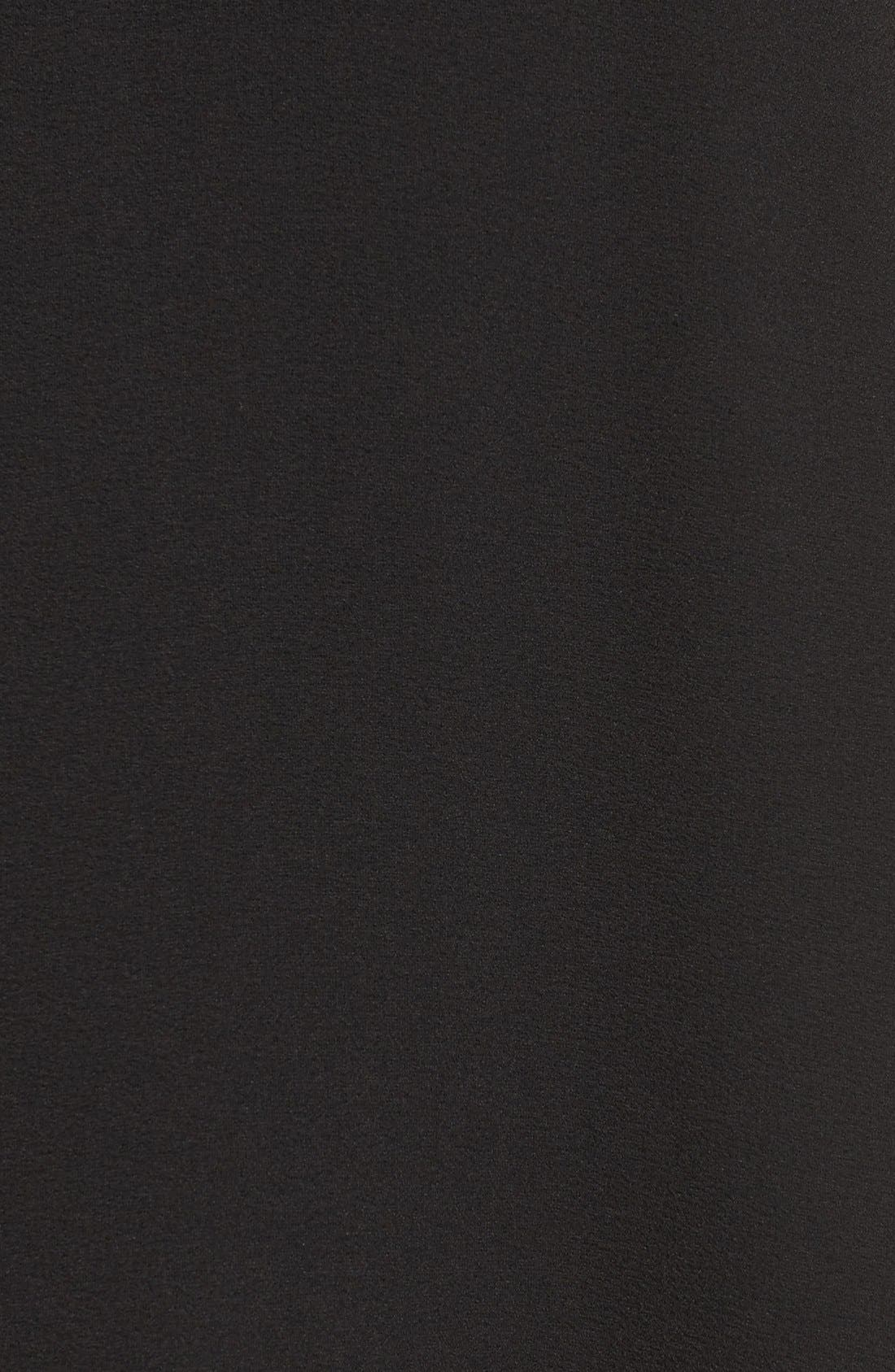 Alternate Image 6  - Taylor Dresses Chiffon Caplet Dress
