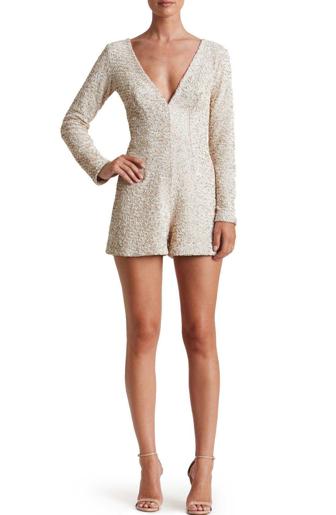 Alternate Image 4  - Dress the Population Bianca Sequin Romper