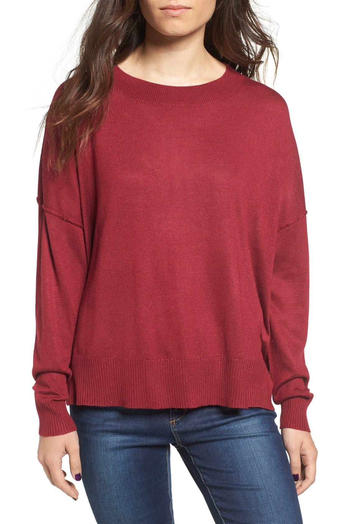 Main Image - BP. Drop Shoulder Pullover Sweater