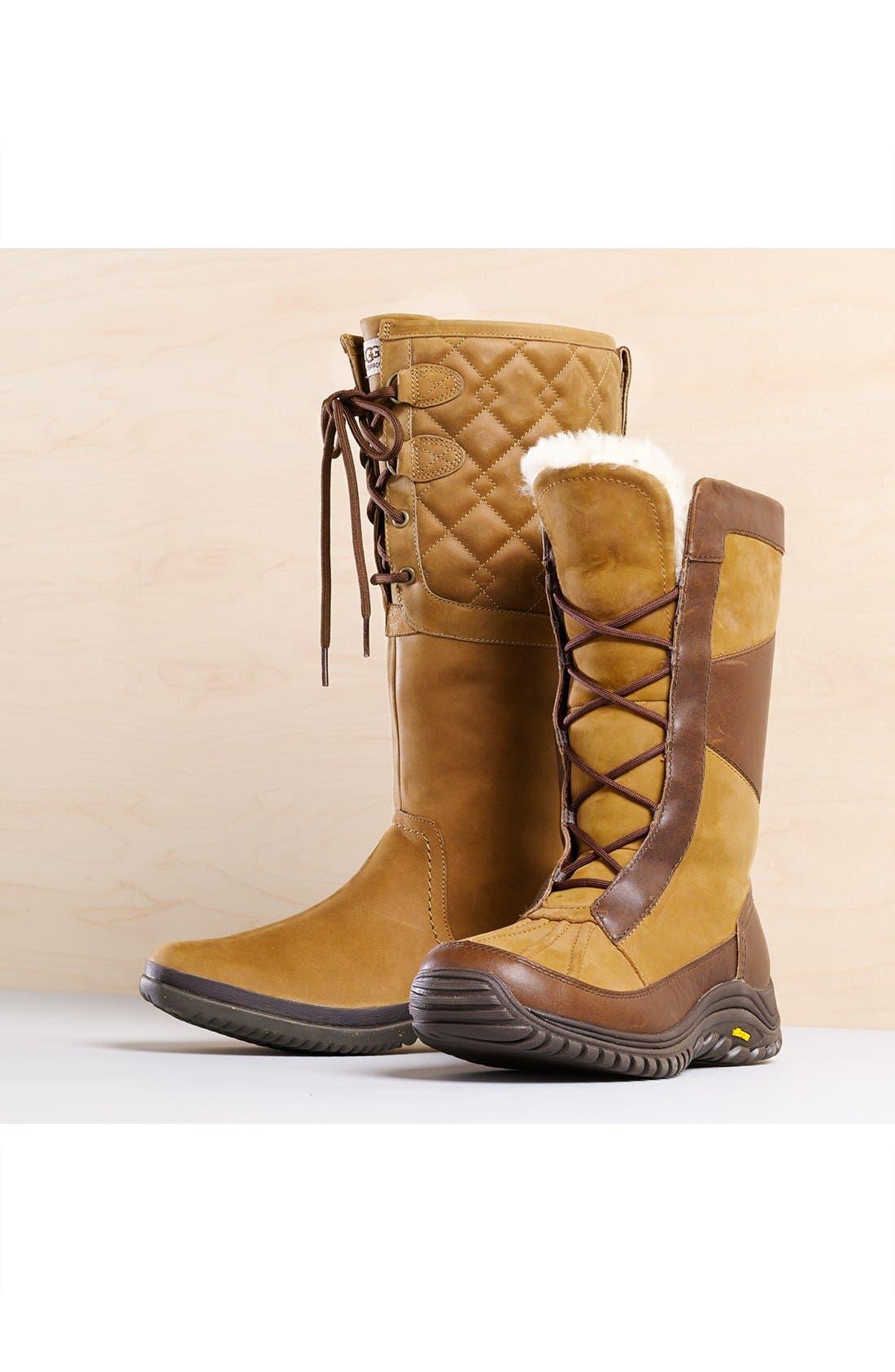Alternate Image 5  - UGG® Elsa Quilted Waterproof Boot (Women)
