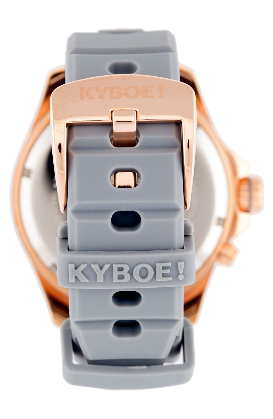 Alternate Image 2  - KYBOE! Silicone Strap Watch, 48mm