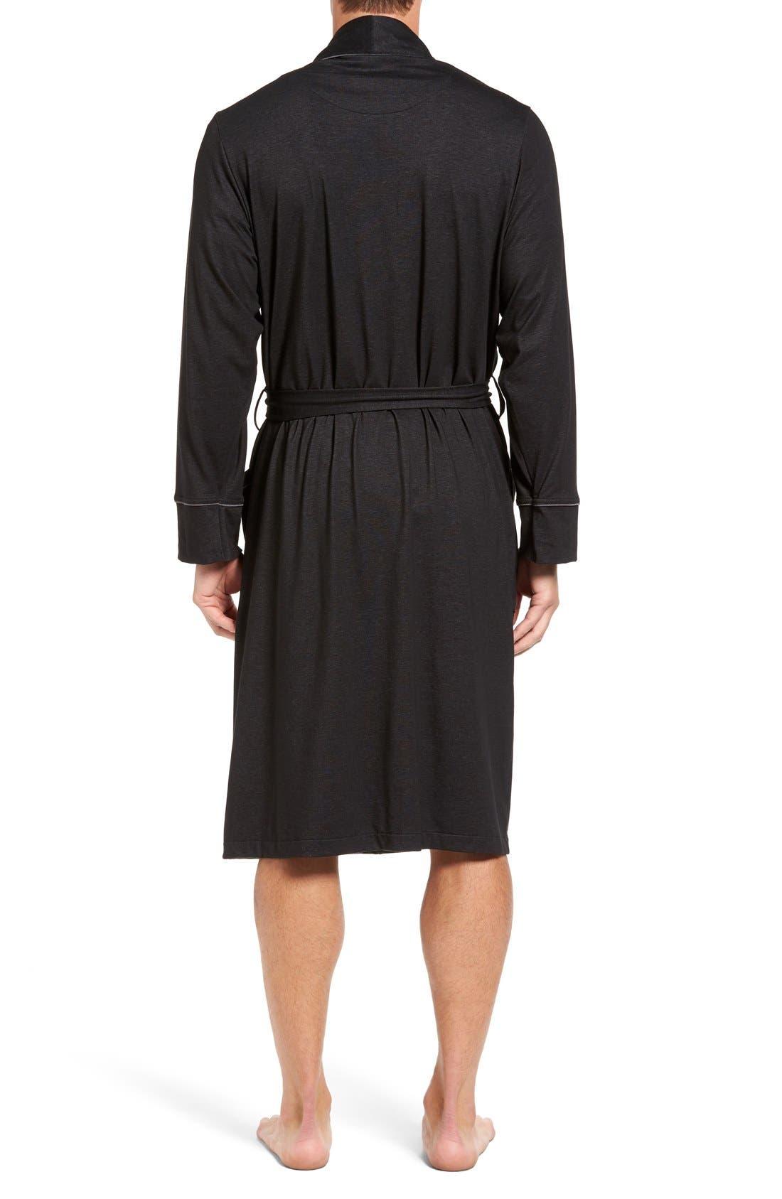Alternate Image 2  - Nordstrom Men's Shop Cotton Blend Robe