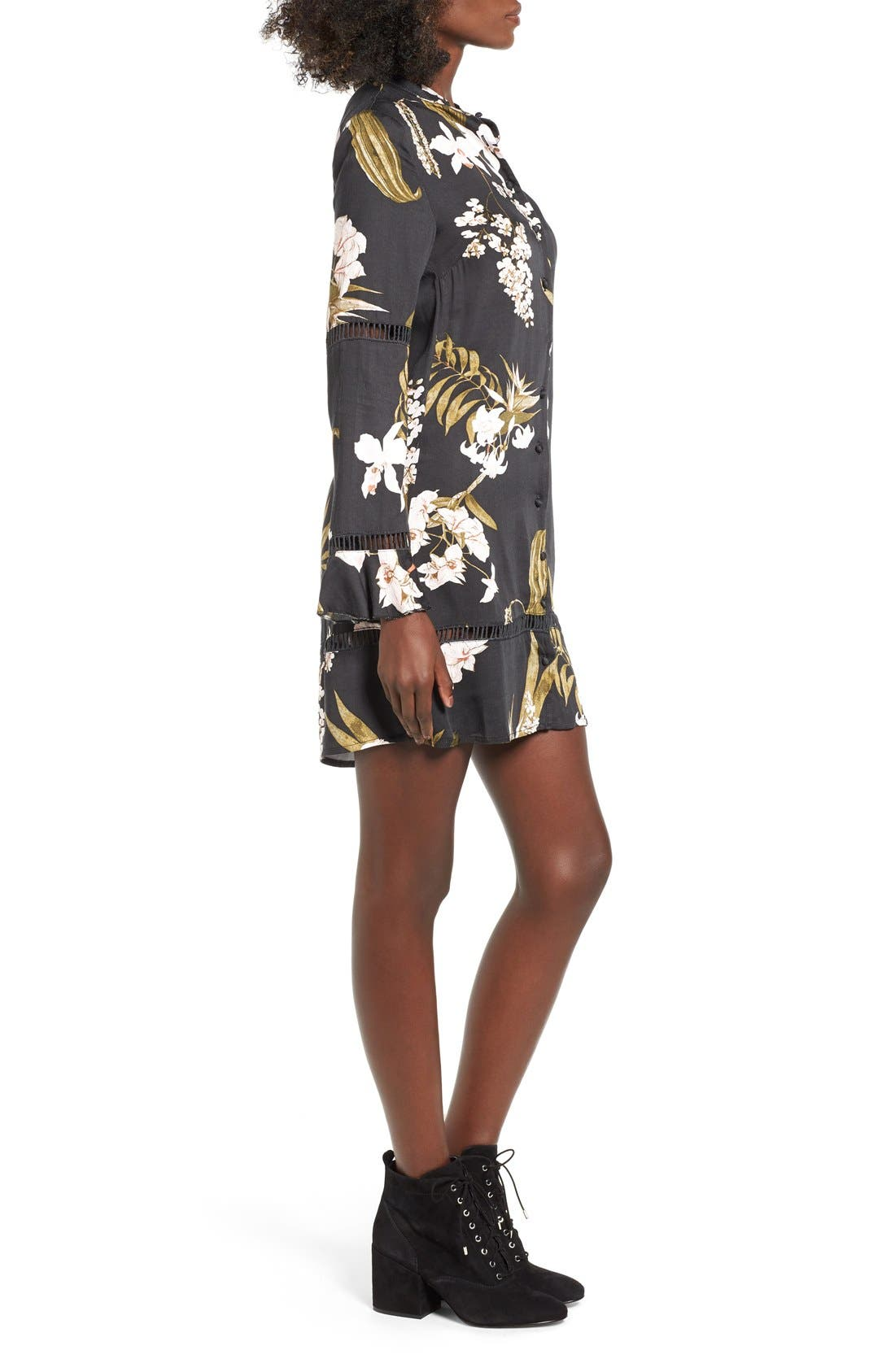 Alternate Image 3  - Somedays Lovin 'Sweet Light' Floral Print Shirtdress