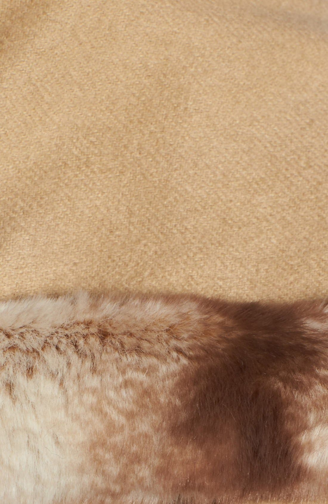 Alternate Image 5  - Badgley Mischka Faux Fur Trim Wrap