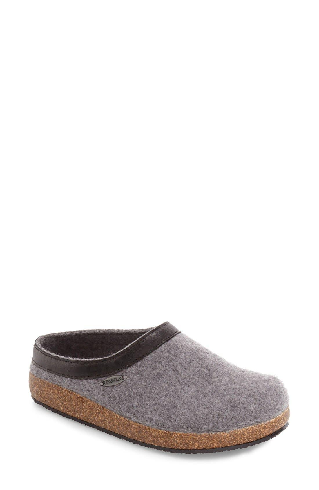 Acadia Water Repellent Slipper,                         Main,                         color, Slate Wool