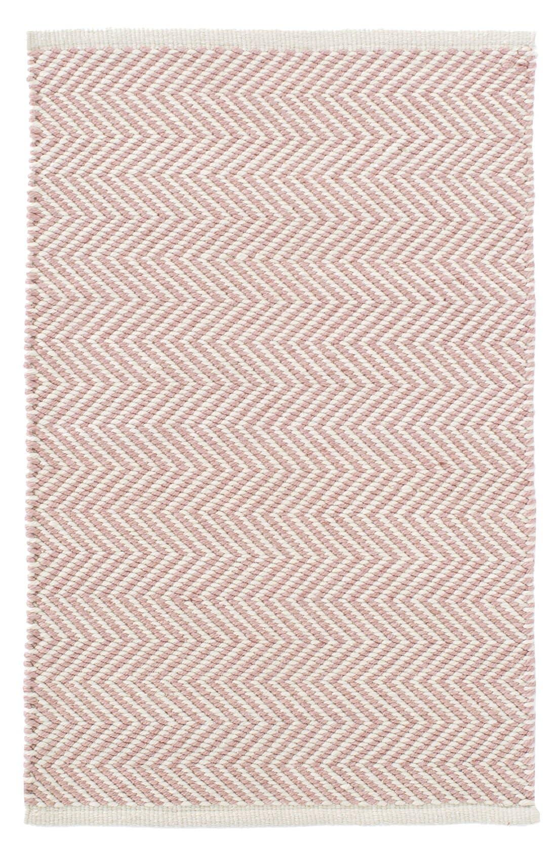 Arlington Indoor/Outdoor Rug,                         Main,                         color, Pink/ Ivory