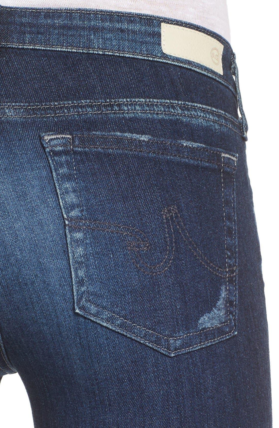 Alternate Image 4  - AG 'The Stilt' Cigarette Leg Jeans (7 Year Ripped)