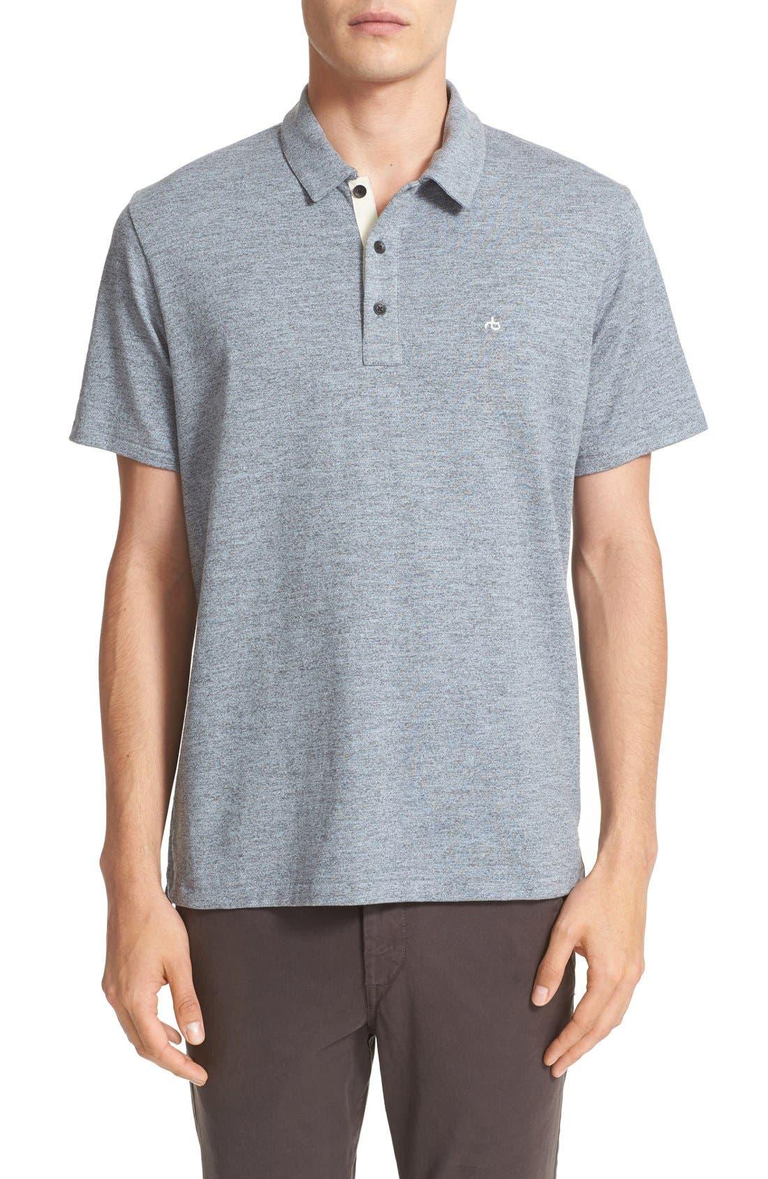 Alternate Image 1 Selected - rag & bone Standard Issue Regular Fit Slub Cotton Polo