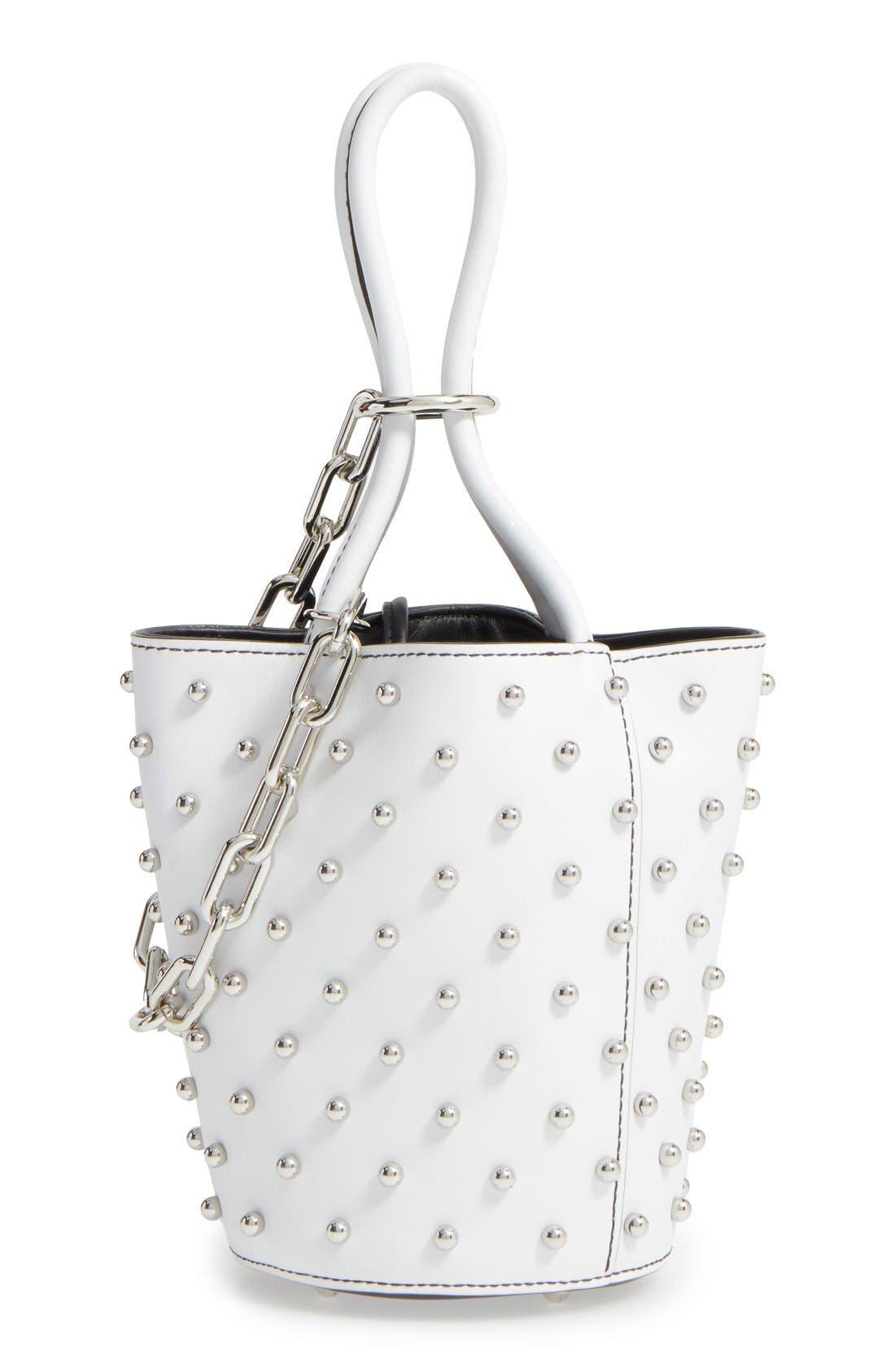 Alternate Image 1 Selected - Alexander Wang Mini Palladium Leather Bucket Bag