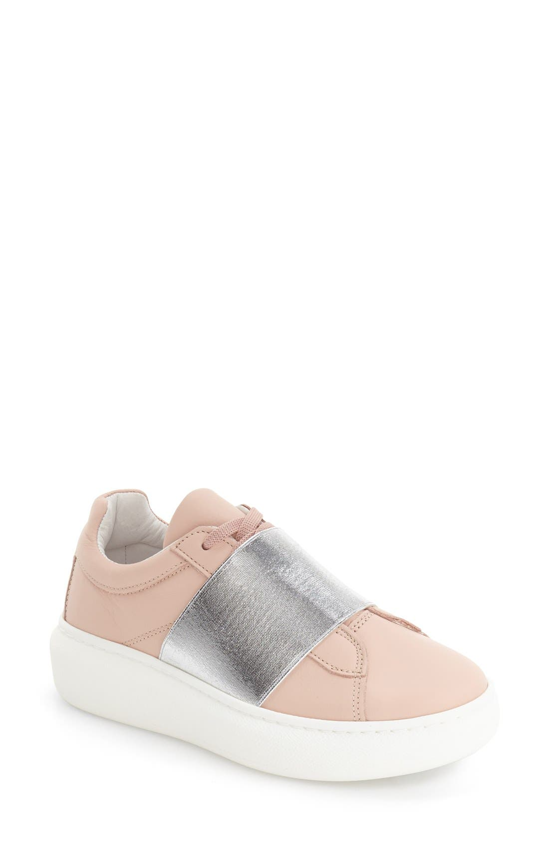 Turin Metallic Strap Platform Sneaker,                             Main thumbnail 1, color,                             Pink Multi